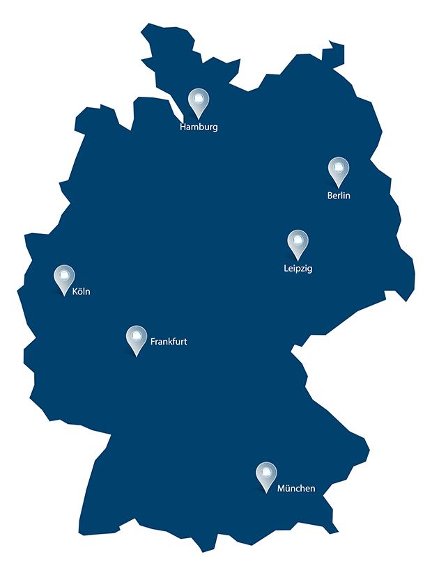 Standorte drs Weltring Karte 620x826px - Unternehmen